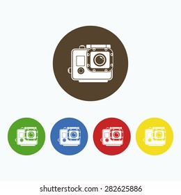 Simple icon extreme camcorder.