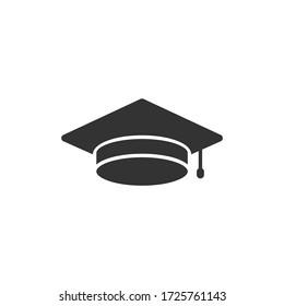 Simple icon of a graduation vector illustration