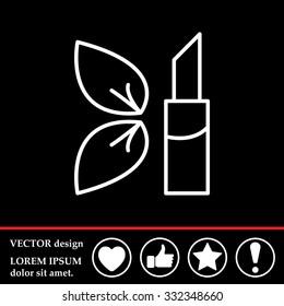 Simple icon lipstick.