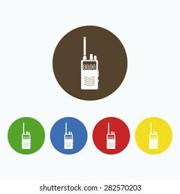 Simple icon mobile radio.