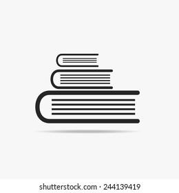 Simple icon pile of books.
