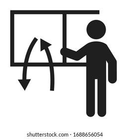 Simple icon representing air ventilation