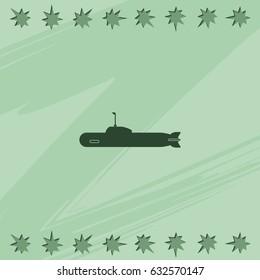 Simple icon submarine.