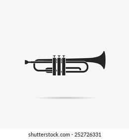 Simple icon Trumpet.
