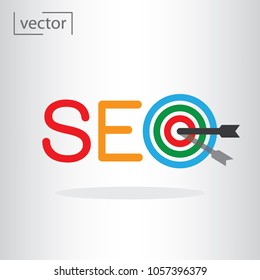simple icon vector - flat design, illustration of seo logo, icon