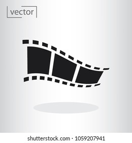 simple icon vector - flat design, illustration of video film icon
