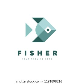The simple and iconic design concept of Fisher Logo