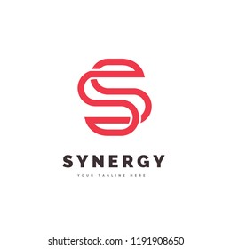 The simple and iconic design concept of Synergy Logo