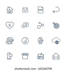 Simple icons for app, programs and sites. Set with different UI icons. EPS 10