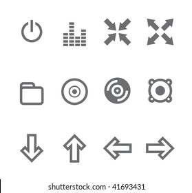 Simple icons isolated on white - Set 4 This set includes internet icons for websites, applications or presentations.
