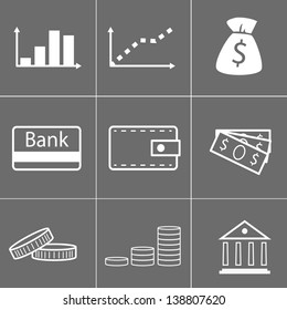 simple icons of money