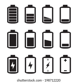 Simple illustrated battery icon with charge level