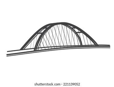 simple illustration Apollo Bridge Bratislava