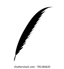 simple illustration black color pen vector