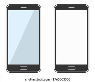 Simple illustration of the black smartphone