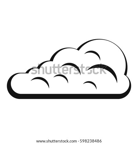 Simple Illustration Cumulus Cloud Vector Icon Stock Vector Royalty