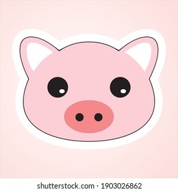 simple illustration of cute piglet. can be used for children's books and children's knowledge of piglet drawings