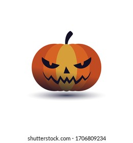 Simple illustration of Halloween pumpkin, Jack'O Lantern illustration vector