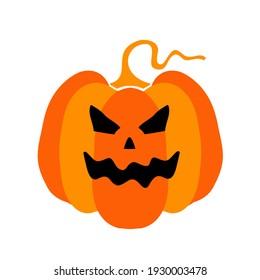 Simple illustration of Halloween pumpkin. Vector illustration