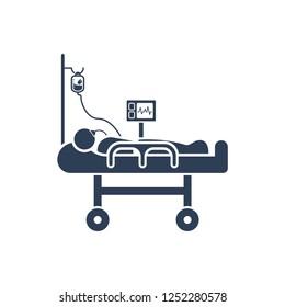 Simple Illustration of Intravenous Patient Icon