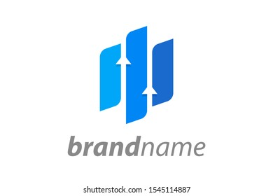 Simple illustration logo for financial company.