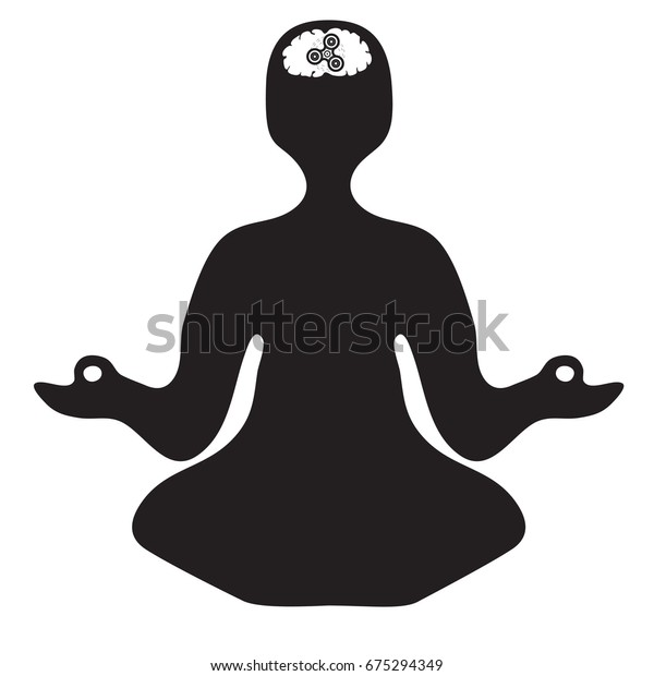 Simple Illustration Mental Meditation Spinner Yoga Stock Vector Royalty Free 675294349