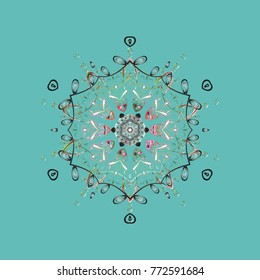 Simple illustration of nice snowflake icon for web. Vector illustration. Nice snowflake icon. Isolated cute snowflakes on colorful background.