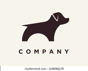 simple illustration pet logo