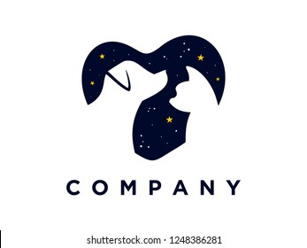 simple illustration pet logo