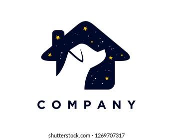 Simple illustration pets logo.