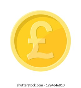 Simple illustration of pound sterling coin Concept of internet currency