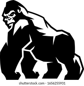 Simple Illustration of Silverback Gorilla