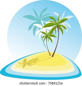 simple illustration with small island