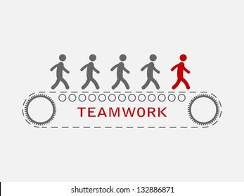 simple illustration of teamwork