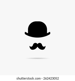 Simple Image mustache and bowler.