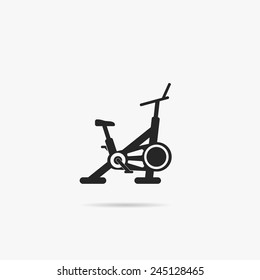 Simple image stationary bike.