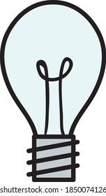 Illustration vectorielle simple d'une ampoule à incandescence