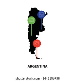Simple Infographic Of Argentina Using For Presentation