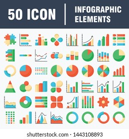 Simple infographics icons set. Universal infographics icon to use for web and mobile UI, set of basic infographics elements
