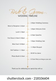 Simple infographics style wedding timeline