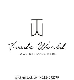 Simple Initial TW logo design inspiration