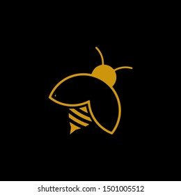 simple insect bee or fireflies vector logo