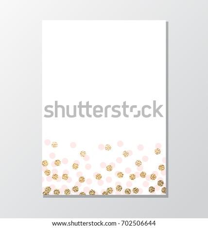 simple invitation background gold glitter dot stock vector royalty