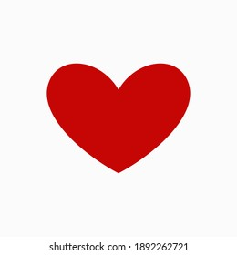 simple isolated heart shape on white, symbol of love for romantic opportunity element like Valentines card, background, wallpaper, texture, banner, label, logo, icon, sign etc. vector design.
