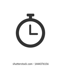 Simple isolated stopwatch icon, Timer