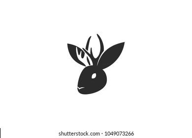 Simple Jackalope Head