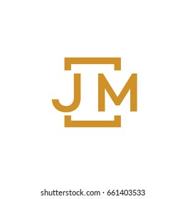 Simple JM initial Logo designs template vector illustration