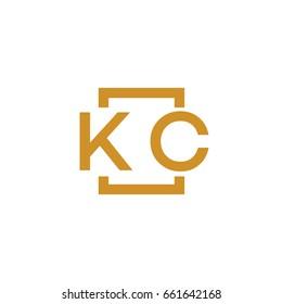 Simple KC initial Logo designs template vector illustration