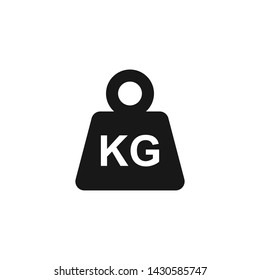 Simple KG weight silhouette icon, isolated