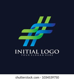 Simple knot Rope Logo Icon Design